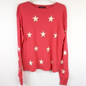 Wildfox red star long sleeve shirt